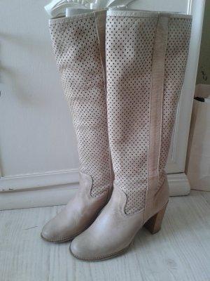 Lavorazione Artigiana High Boots natural white-dusky pink