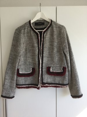 Zara Basic Blazer in tweed multicolore Cotone