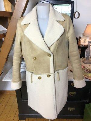 REBEL by RINO&PELLE Cappotto in eco pelliccia crema-color cammello Poliestere