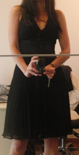 Apart Vestido de cóctel negro Poliéster