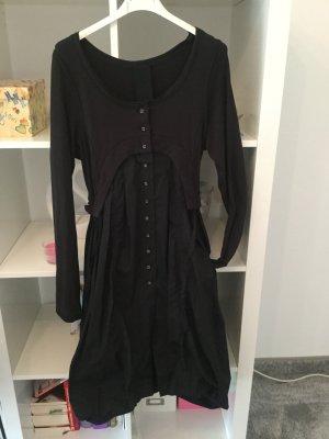 Rundholz Sukienka z rękawem balonowym czarny Tkanina z mieszanych włókien
