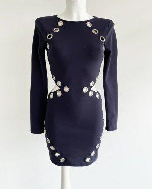 Missguided Robe découpée bleu foncé polyester