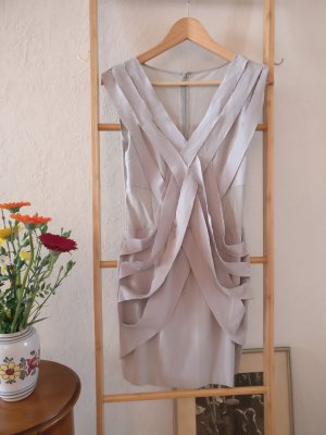 Fringed Dress light grey