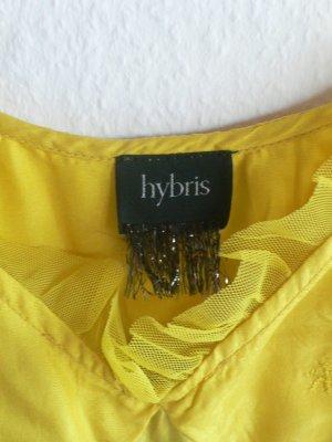 hybris Robe à volants jaune-ocre