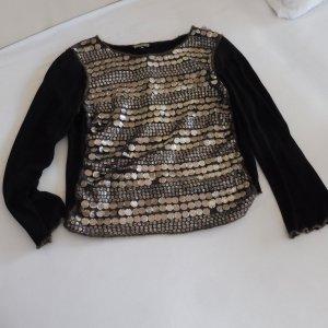 Camisa larga negro-color oro