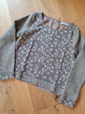 Cristina Gavioli Crewneck Sweater beige polyester
