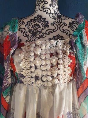 Cherry Szyfonowa sukienka Wielokolorowy