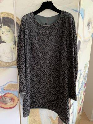 Ausgefallenes Spitzen-Kleid*gau-schwarz-graugrün