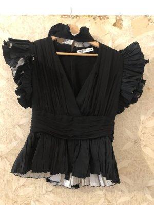 Zara Frill Top black-white