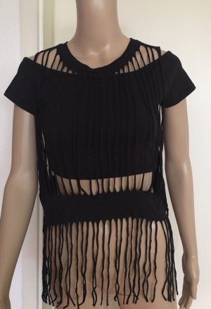 H&M Divided Top cut-out nero