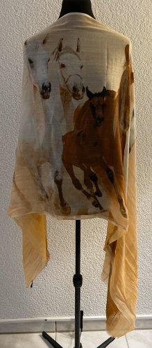 Ausgefallenes Tuch mit Pferdeprint