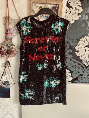 Ausgefallenes Twin-Set Designer  Pailletten Kleid Forerver or Never Gr S Neu mit Etikett