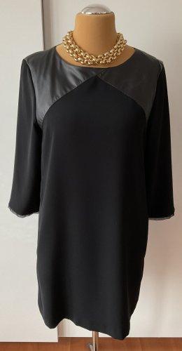 ausgefallenes ZARA Kleid schwarz mit Kunstleder XL sehr guter Zustand