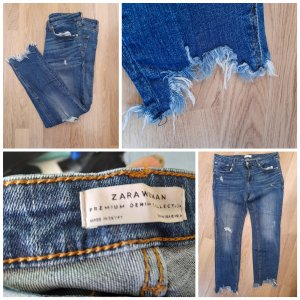 Zara Jeans cigarette bleu foncé