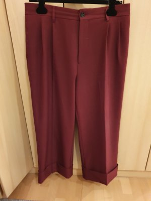 Pantalon Marlene bordeau