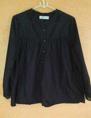 Mih jeans Camicetta a maniche lunghe nero Cotone