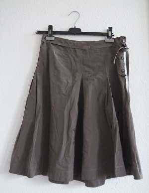 Turnover Taffeta Skirt green grey polyamide