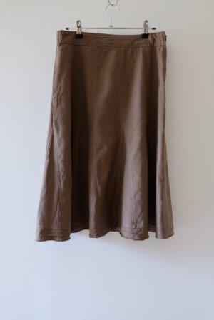 epilogue Linen Skirt brown linen
