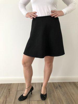 H&M Rok met hoge taille zwart Polyester