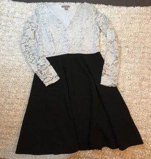 Anna Field Sukienka z długim rękawem biały-czarny