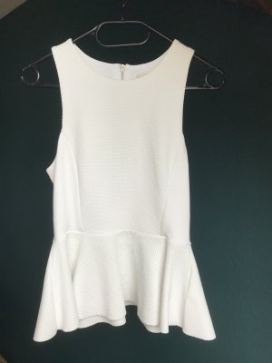 H&M Peplum Top white polyester