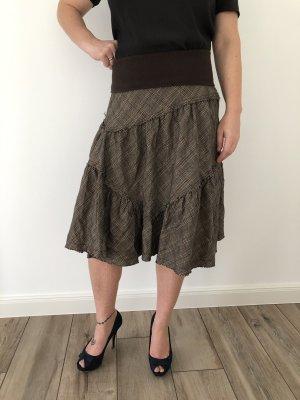 H&M Divided Asymetryczna spódniczka Wielokolorowy