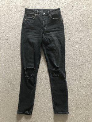 Ausgewaschene High Waist Jeans