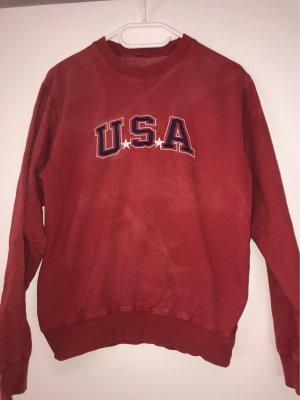 Ausgewaschener Pullover in leichtem Batikstyle