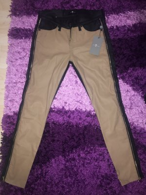 Seven7 Pantalón de cuero multicolor Cuero