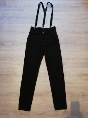 Aussergewöhliche high waist Jeans mit Hosenträger NP 39,95 €