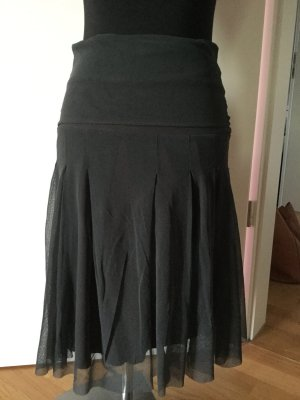 Kookai Plaid Skirt anthracite-brown