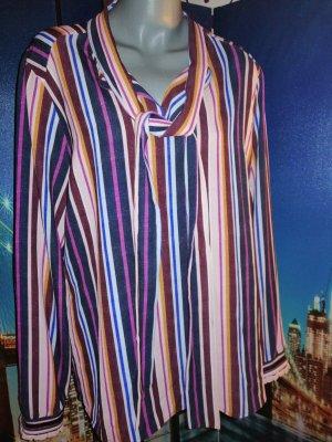 promiss Tie-neck Blouse multicolored