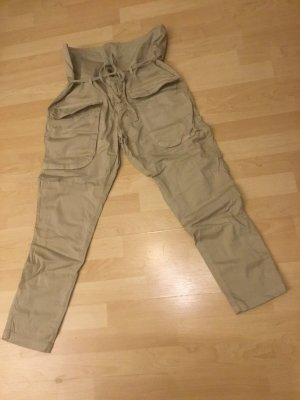 Conleys Cargo Pants dark yellow-sand brown cotton