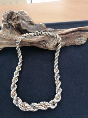 Aussergewöhnliche dicke Kordelkette 835er Silber