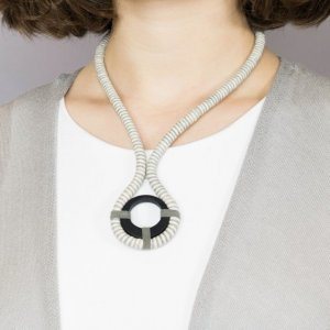 Statement Necklace silver-colored-natural white