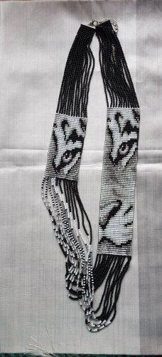 Außergewöhnliche handgearbeitete Kette Tigergesicht