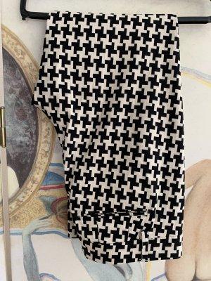 Dondup 7/8 Length Trousers natural white-black acetate