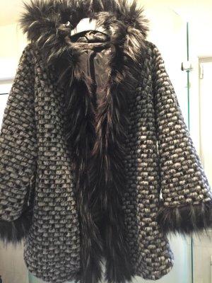 Oversized Jacket multicolored fake fur