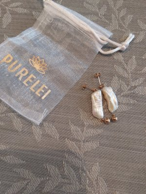 Purelei Statement Earrings white-rose-gold-coloured