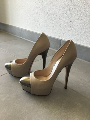 Casadei Platform Pumps oatmeal-sand brown
