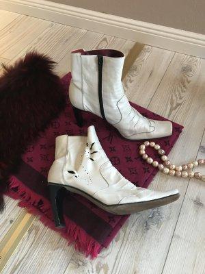 Außergewöhnliche Stiefel aus feinem Leder MADE IN ITALY Gr.39
