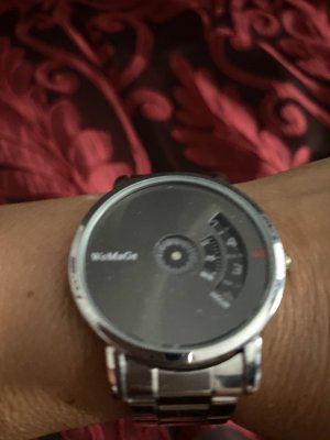 Watch With Metal Strap silver-colored