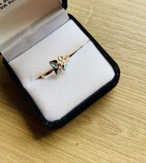 Gouden ring veelkleurig Metaal