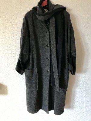 Virmani Manteau oversized gris-noir