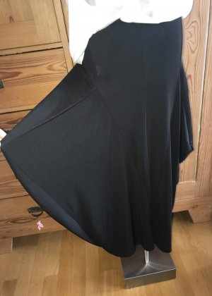 Made in Italy Falda asimétrica negro Nailon