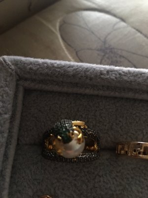 Außergewöhnlicher Silberring - vergoldet