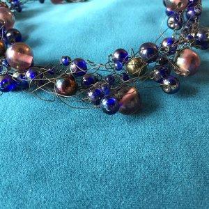 Collar estilo collier multicolor vidrio