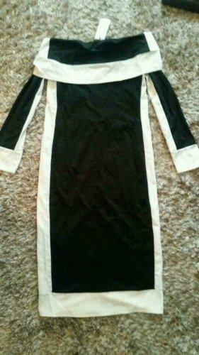 Außergewöhnliches Kleid in Schwarz /Weiss Gr. L Neu mit Etikett