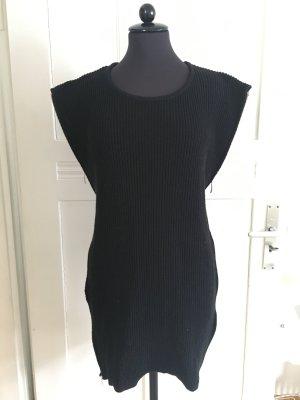 Robe en maille tricotées noir-argenté polyamide
