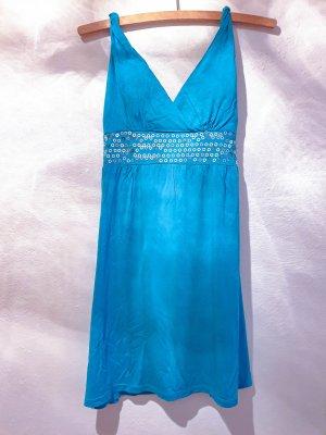 no name Bustier Dress light blue